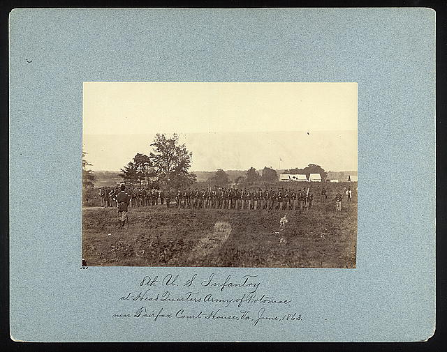 8th U.S. Infantry at Headquarters Army of Potomac near Fairfax Court House, Va., June, 1863