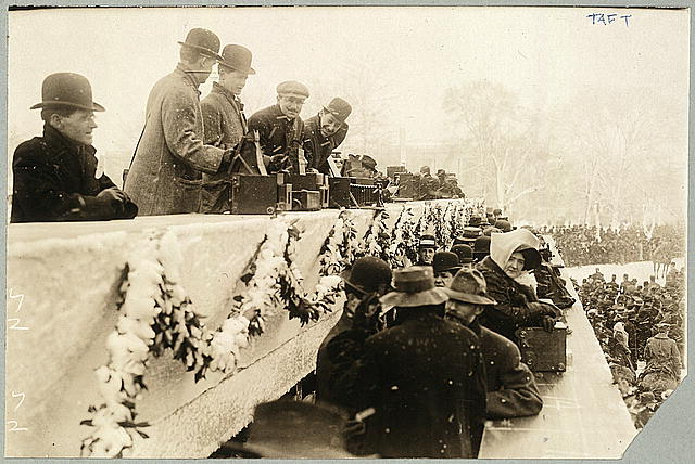 [Photographers at President Taft's inauguration, March 4, 1909]