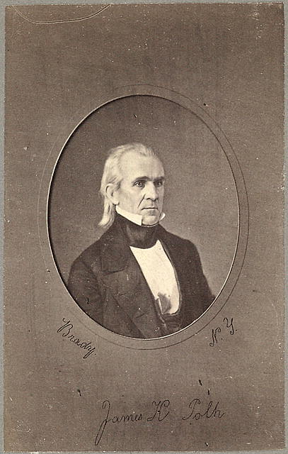 [James K. Polk, head-and-shoulders portrait, facing slightly right]