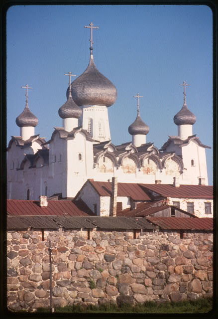 Monastery, Cathedral of the Transfiguration (1558-66), northwest view, Solovetskii Island, Russia
