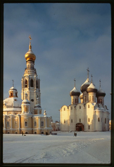 Cathedral of St. Sophia (1568-70), with belltower (1869-70), southeast view, Vologda, Russia