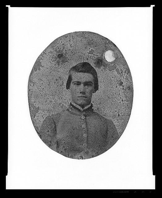 [Portrait of Pvt. Bentley Weston, bugler, Company A, 7th South Carolina Cavalry, C.S.A.]