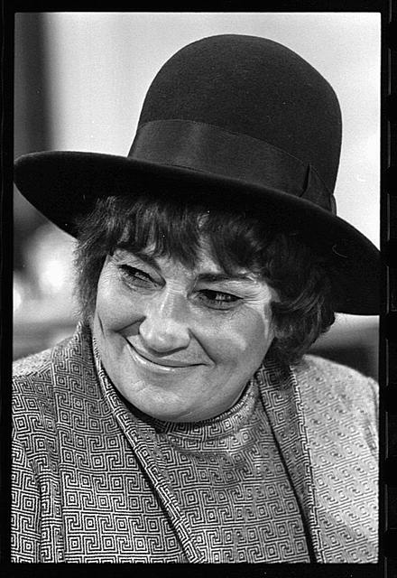 [Bella Abzug at press conference for National Youth Conference for  '72]