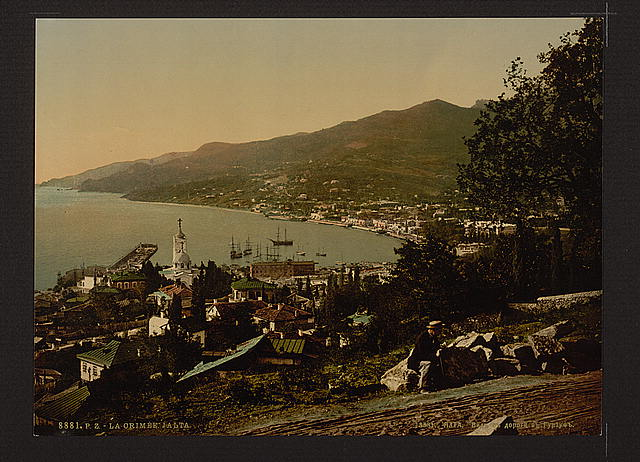 [From the Gursuff (i.e., Gurzuf), Road, Jalta, (i.e., Yalta), the Crimea, Russia, (i.e., Ukraine)]