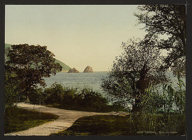 [Gursuff, (i.e., Gurzuf), from the Park, the Crimea, Russia, (i.e., Ukraine)]