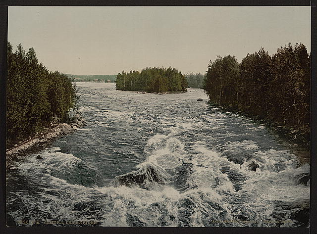 [The rapids toward the pavillion, Imatra, Russia,(i.e., Finland)]