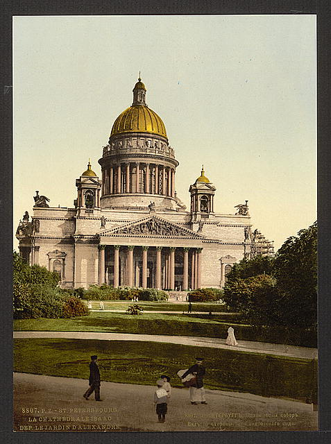 [The Isaac Cathedral from Alexander's Garden, St. Petersburg, Russia]