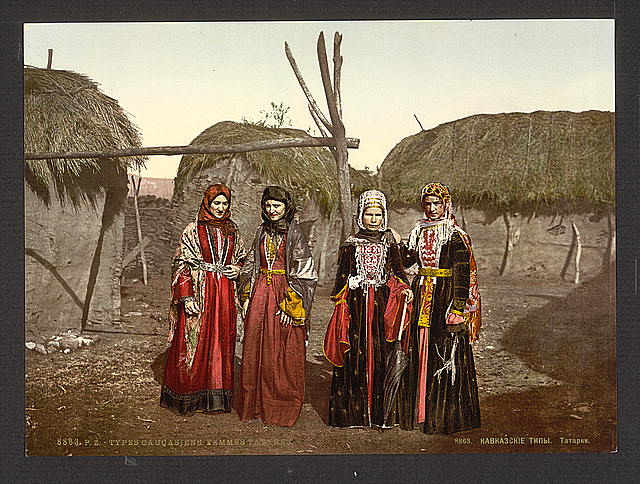 [Russian types of Tartar, (i.e., Tatar), women of the Caucasus, Russia]