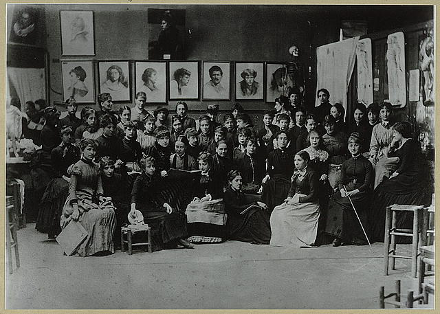 Academie Julian, Paris, group of art students
