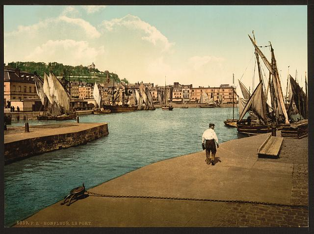 [The port, Honfleur, France]