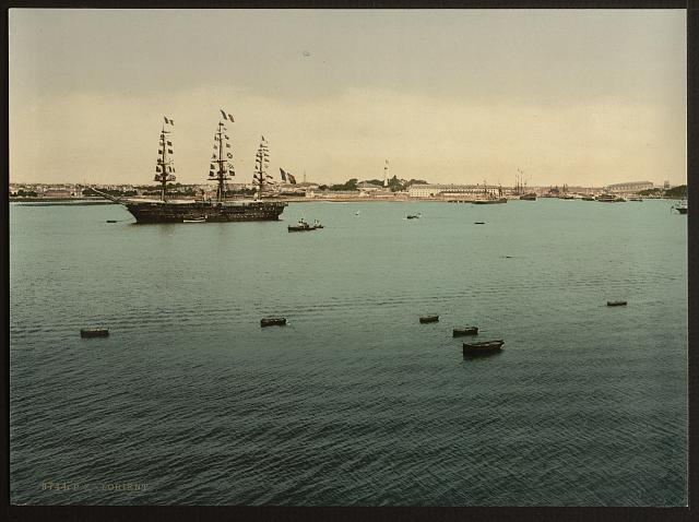 [General view from Point ́Pen-Mane, Lorient, France]