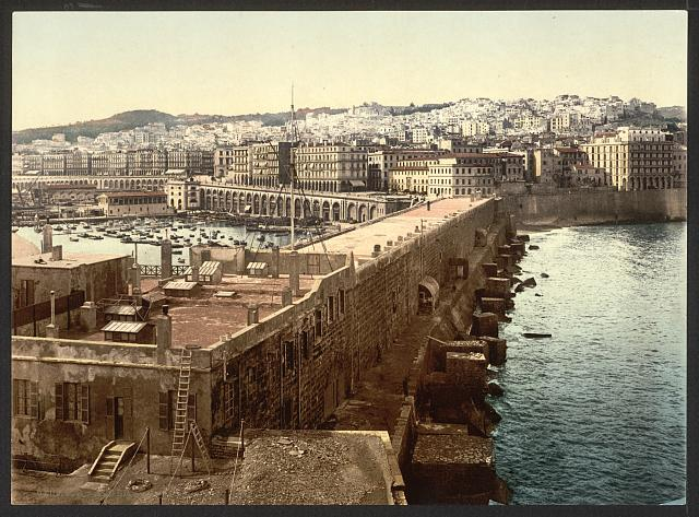 [The harbor from the lighthouse, Algiers, Algeria]