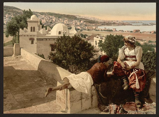 [Moorish woman and child on the terrace, I, Algiers, Algeria]