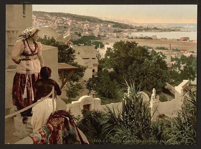 [Moorish woman and child on the terrace, II, Algiers, Algeria]