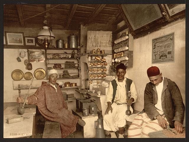 [Moorish coffee house, Algiers, Algeria]