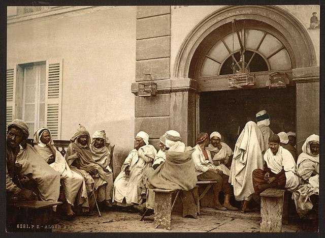 [Arabs at a cafe, Algiers, Algeria]