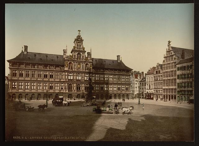 [Grande Place with town hall, Antwerp, Belgium]