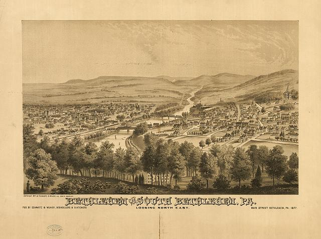 Bethlehem and South Bethlehem, Pa. Looking north east /