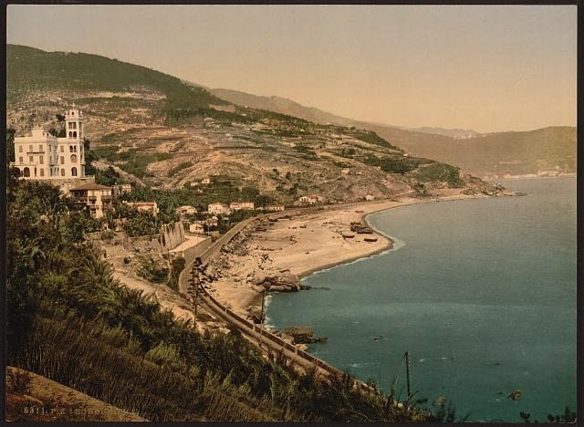 [General view from the west, Bordighera, Riviera]