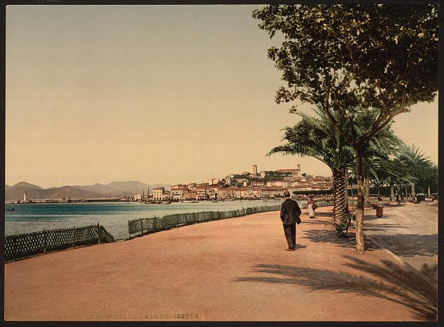 [The boulevards, Cannes, Riviera]