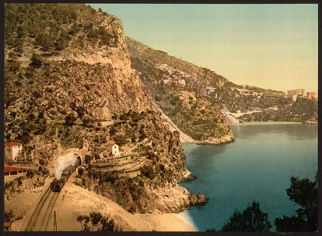 [View on the road to La Turbie, Èze and St. Jean, Riviera]