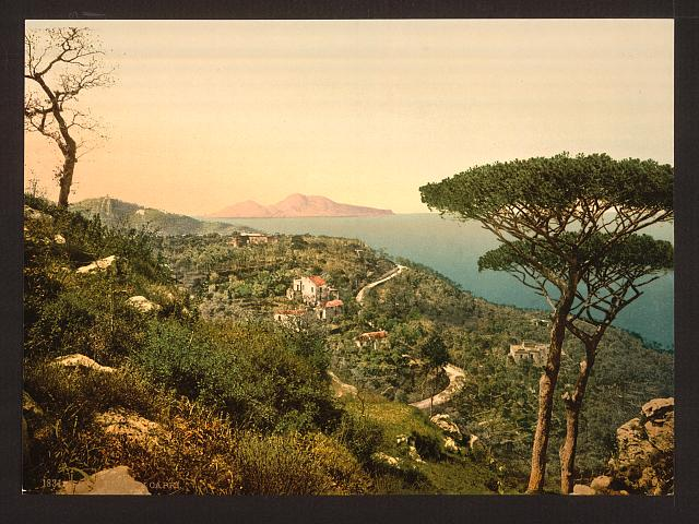 [From Mount Sorrento, Capri Island, Italy]
