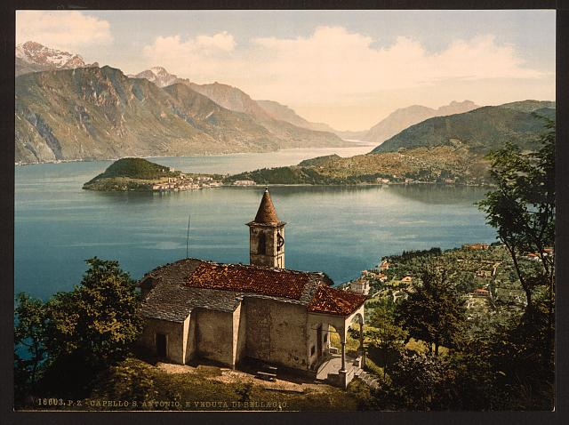 [Capello St. Angelo and view of Bellagio, Lake Como, Italy]