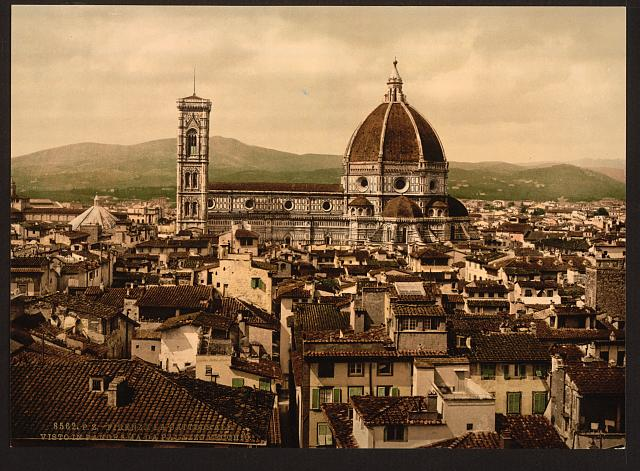 [The Cathedral, panoramic view from Vecchio Palace, Florence, Italy]