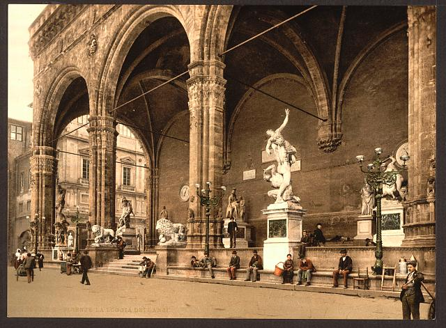 [The Lodge of the Lancers (i.e. Loggia dei Lanzi), Florence, Italy]