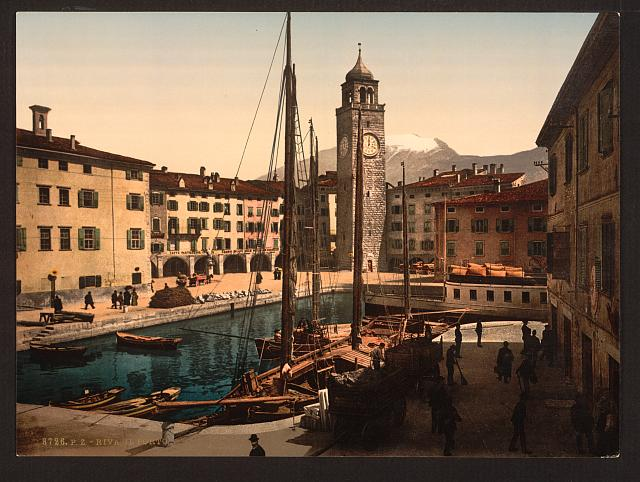 [The harbor, Riva, Lake Garda, Italy]