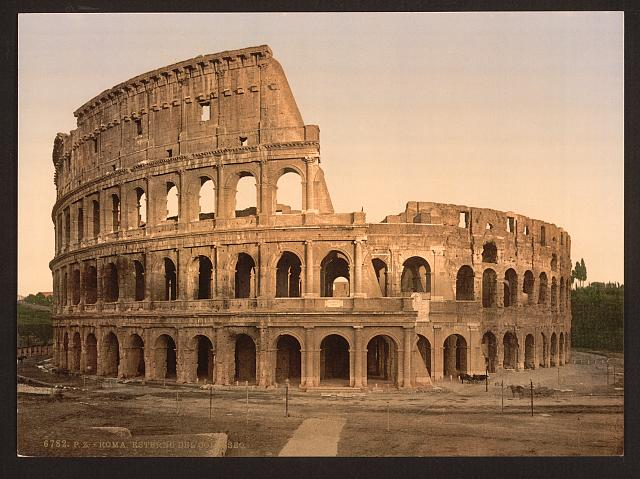 [Exterior of the Coliseum, Rome, Italy]