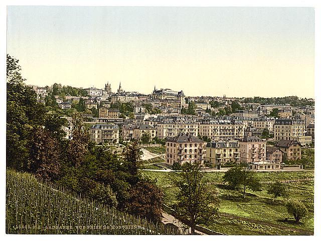 [Lausanne, view of the Montriond, Geneva Lake, Switzerland]
