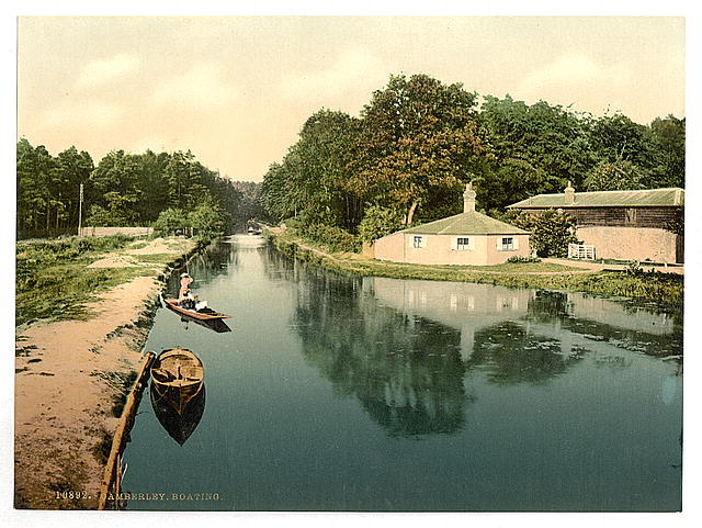 [Boating at Camberley, England]