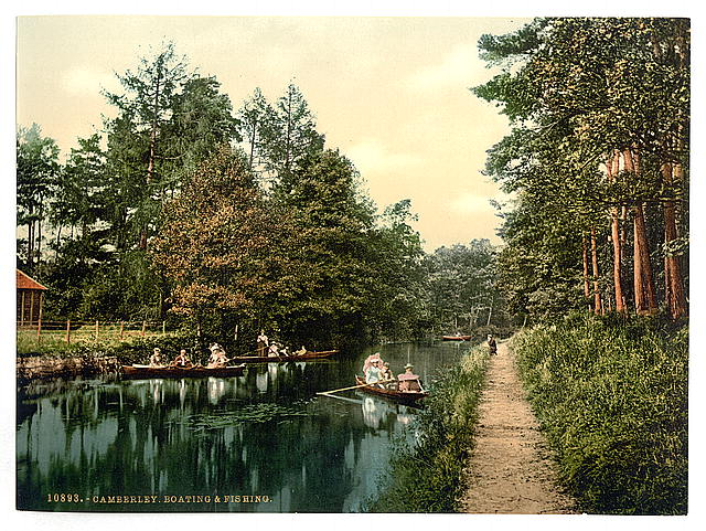 [Boating and fishing, Camberley, England]