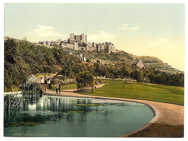 [The castle from the park, Dover, England]