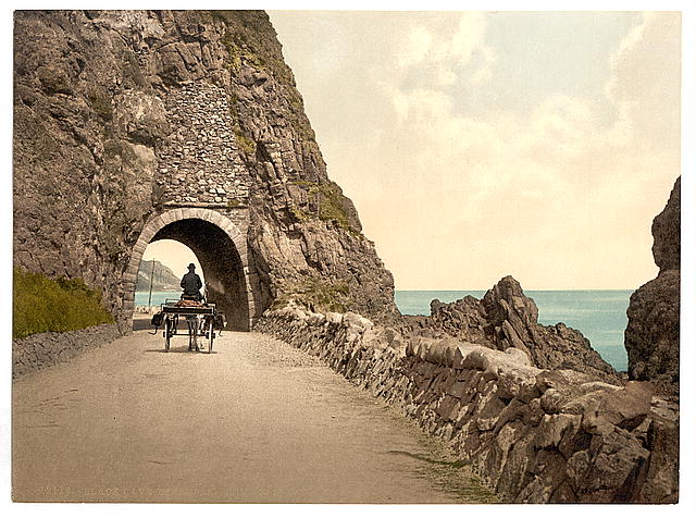 [Black Cave Tunnel. County Antrim, Ireland]