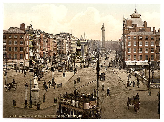 [Sackville Street and O'Connell Bridge, Dublin. County Dublin, Ireland]