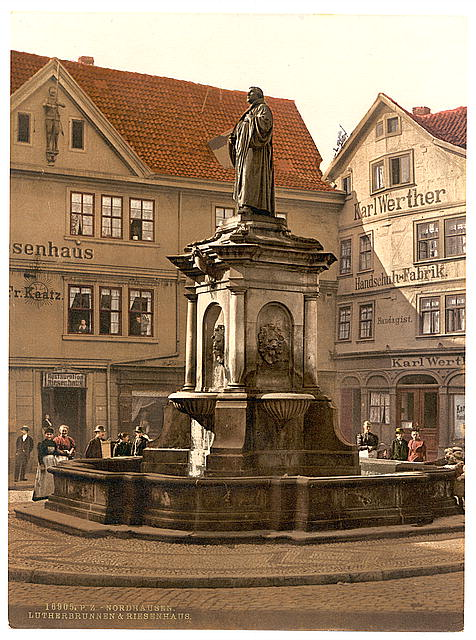 [Luther Fountain at Riesenhaus, Nordhausen, Thuringia, Germany]