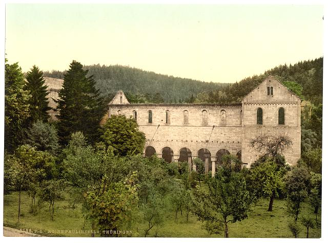 [Ruins of the convent, Paulinzella, Thuringia, Germany]