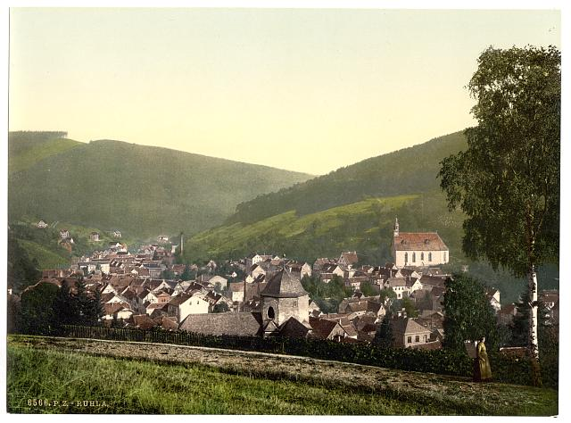 [Ruhla from the Gottesgabe, Thuringia, Germany]