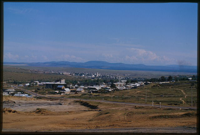 Panoramic view southeast, toward Mongolia, Kiakhta, Russia