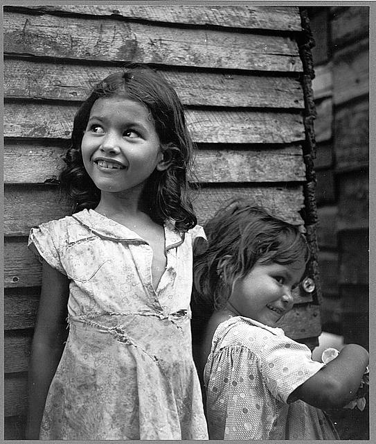 Utuado, Puerto Rico. Children in the slum area