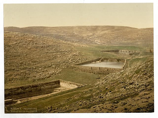 [The pools of Solomon, Bethlehem, Holy Land, (i.e., Nein, Israel)]