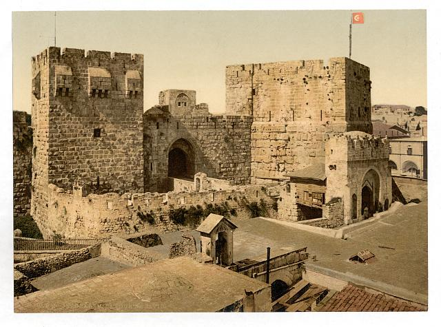 [The towers of David and Hippicus, Jerusalem, Holy Land]