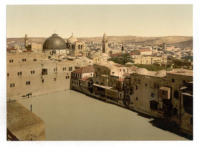 [The Pool of Hezekiah, Jerusalem, Holy Land]