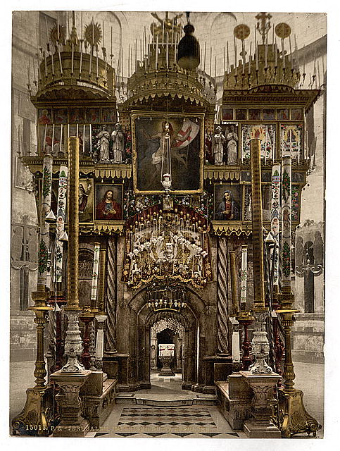 [The interior of the Holy Sepulchre, Jerusalem, Holy Land]