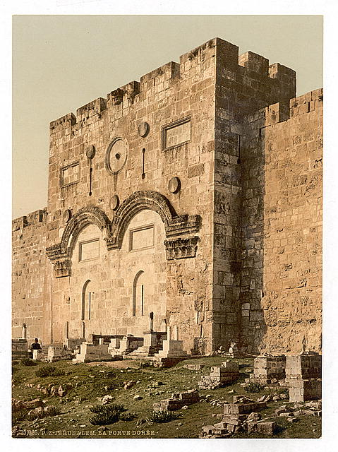 [The Golden Gate (exterior), Jerusalem, Holy Land]