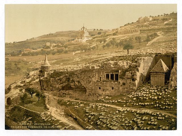 [Valley of the Tombs of Jehoshaphat, Jerusalem, Holy Land]