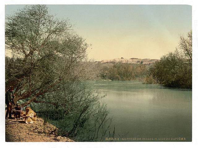 [Place of the baptism, River Jordan, Holy Land]