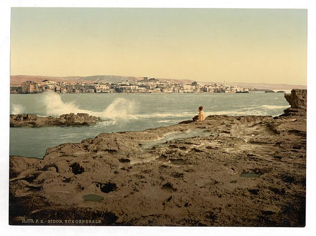 [General view, Sidon, Holy Land, (i.e. Lebanon)]